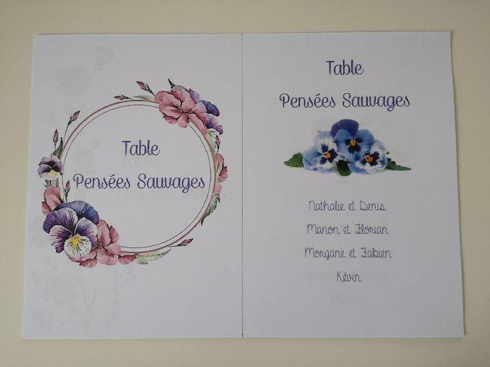 Affiches plan de table et noms de tables 4