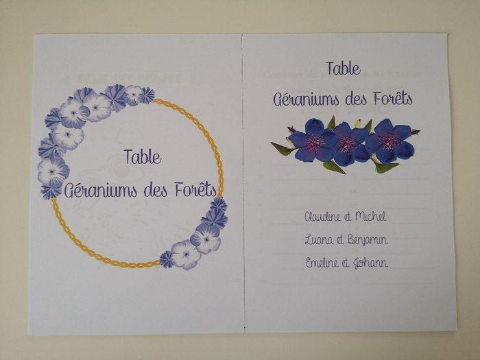 Affiches plan de table et noms de tables 6