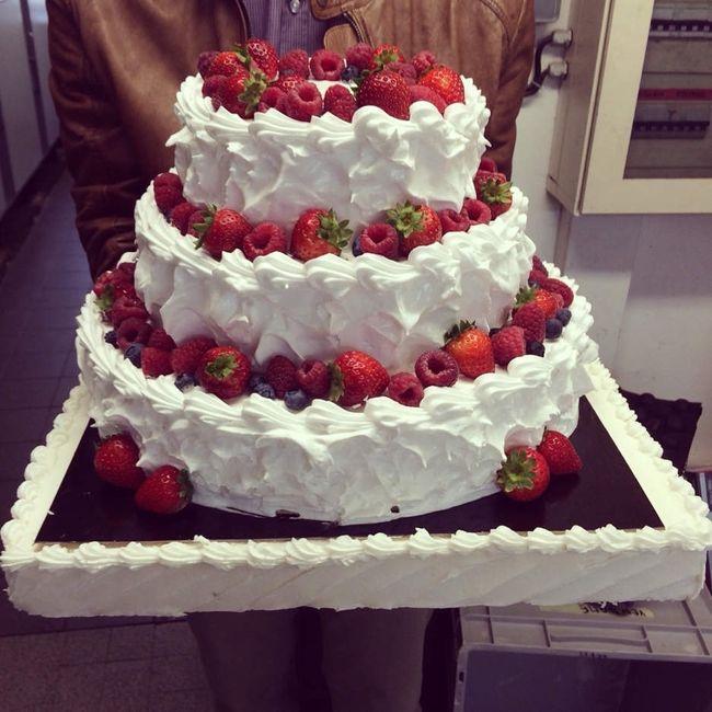 Wedding cake façon fraisier