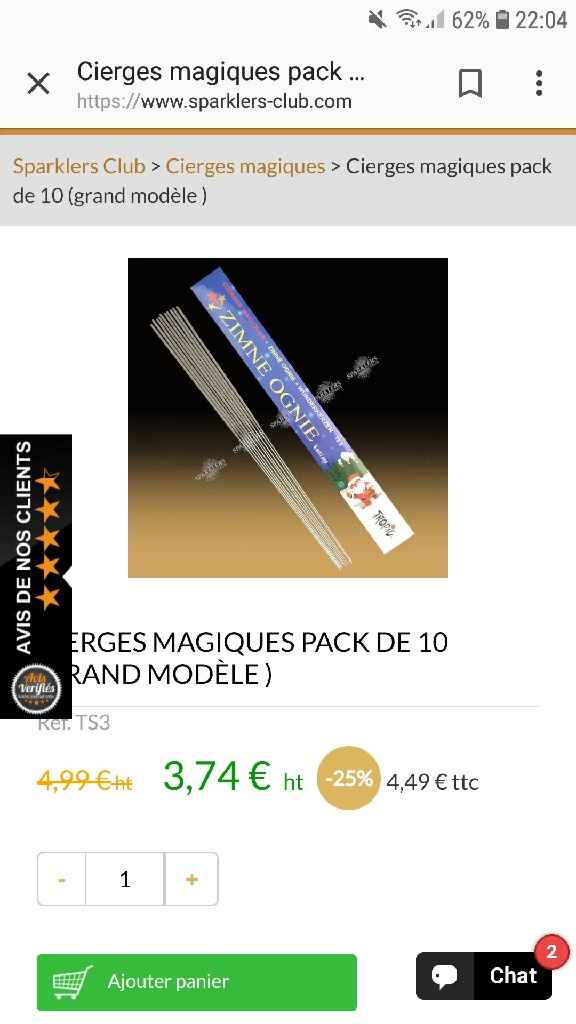 Cierges magiques - 2
