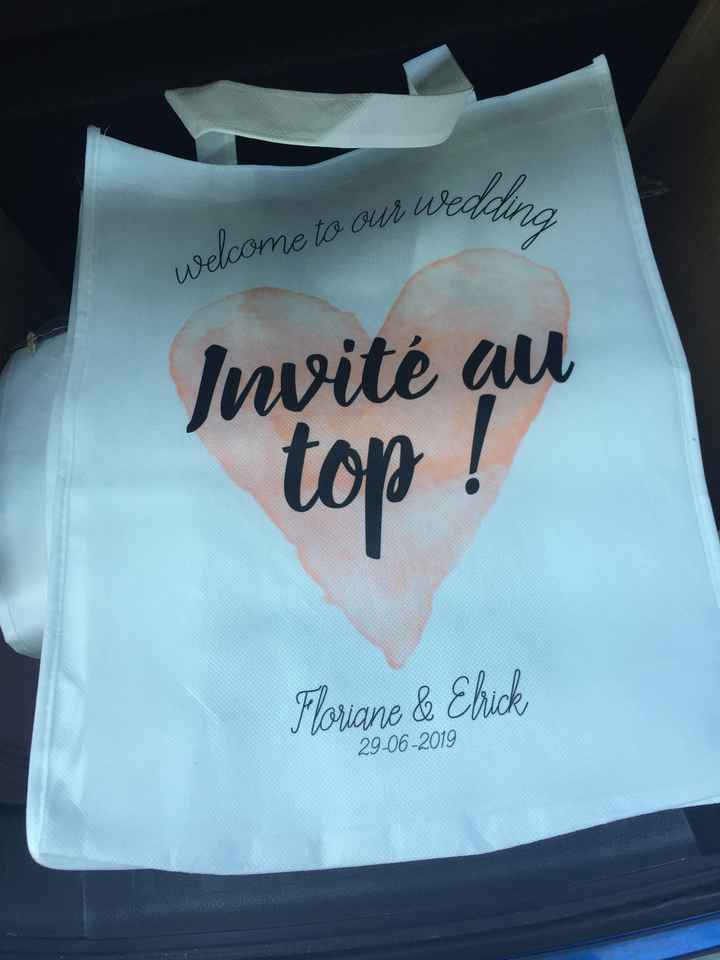 Welcome bags reçus et questions - 1