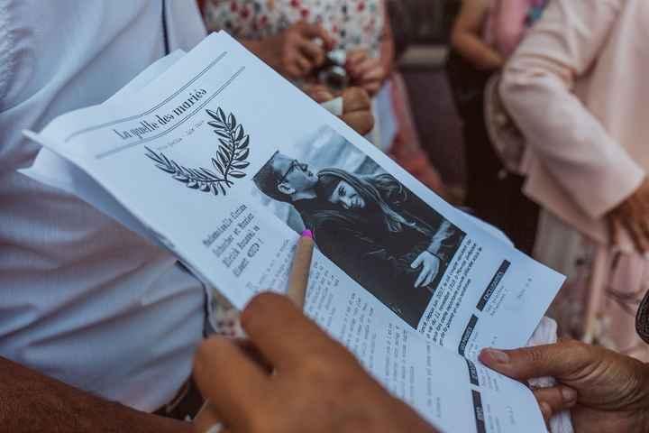 gazette des mariés et stylo