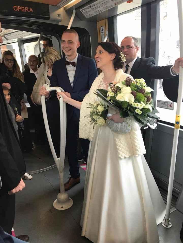un mariage dans le tramway de reims