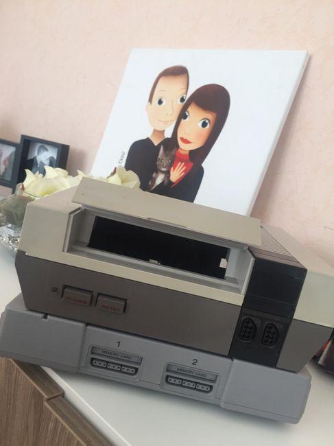 Urne mariage geek