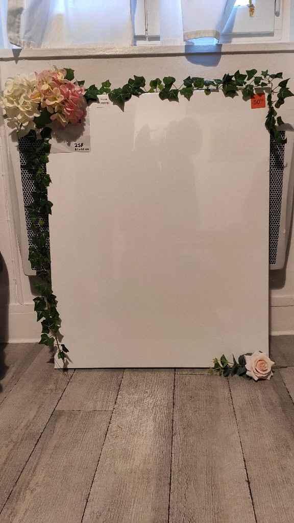 Panneau de bienvenue - Fleurs/feuilles artificielles - 1