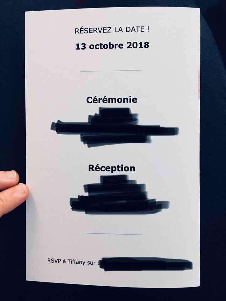Le dos des invitations est plus classique. Avec les informations sur la date, les horaires et adress