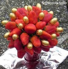 Décoration avec des fraises