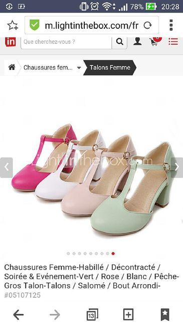 détaillant 947fa f5cd5 Chaussures rose poudré/ vieux rose. - Mode nuptiale - Forum ...