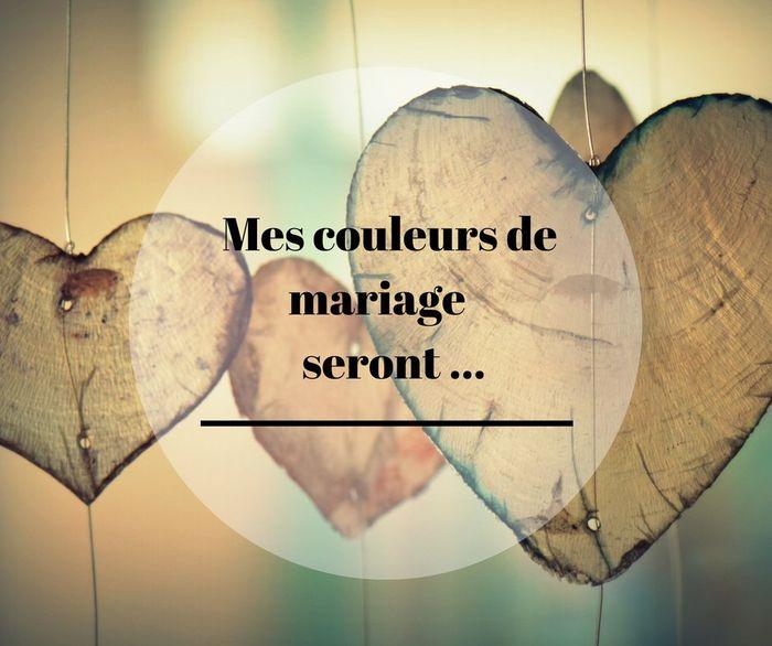 Mes couleurs de mariage seront ... ✨ 1