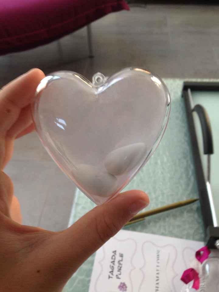 Avis contenant dragée cœur plexi - 1
