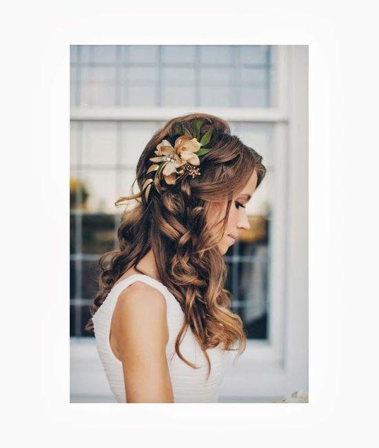 Inspiration : les coiffures des mariées 9
