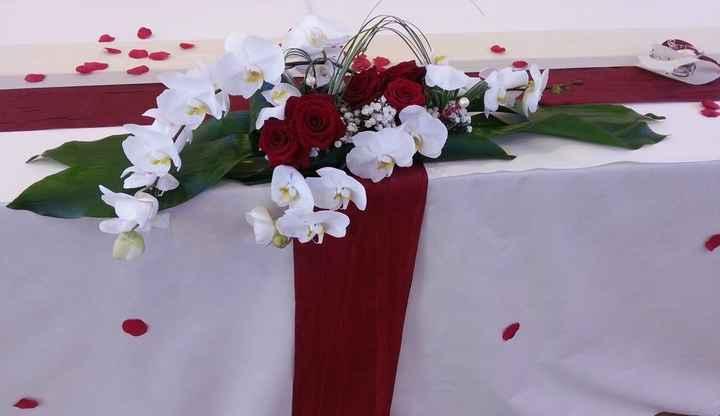 Montrez moi svp vos compositions florales pour la table d'honneur - 1