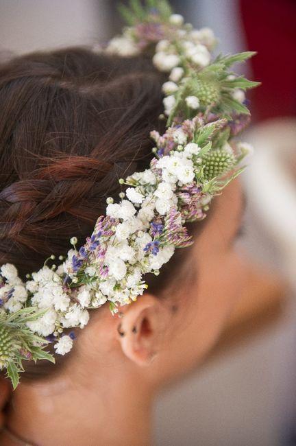 Couronne de fleurs pour la mariée - 1