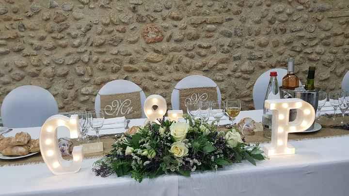 Distinguer la table d'honneur - 2