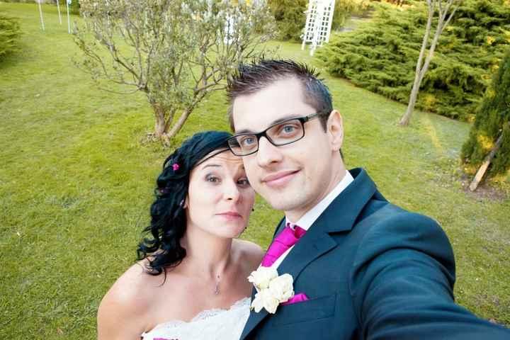 Notre selfie mariage