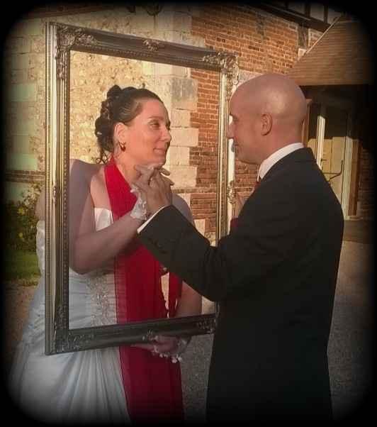 Magnifique photo des mariés