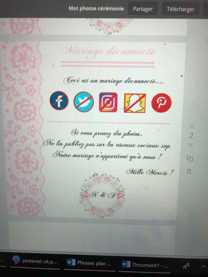 Affiche mariage non connecté. - 1
