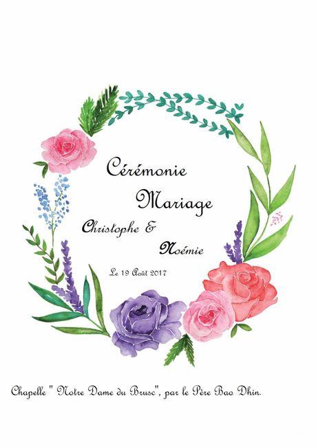 Livret de messe c r monie de mariage forum for Livret des fleurs