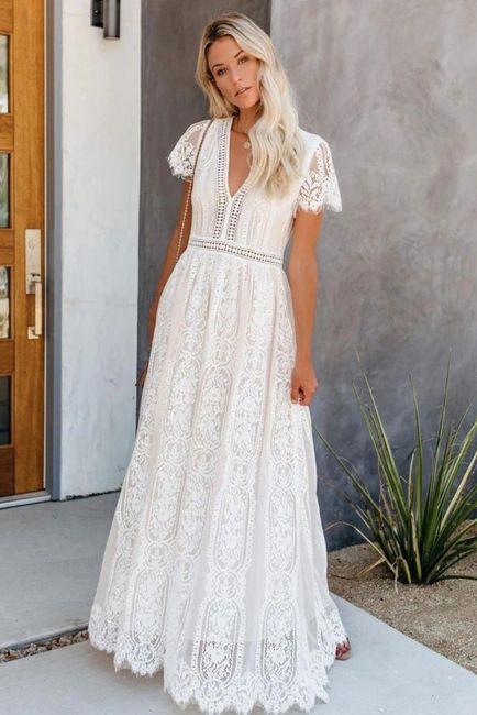 Robe de mariée Bohème (un peu atypique) 2
