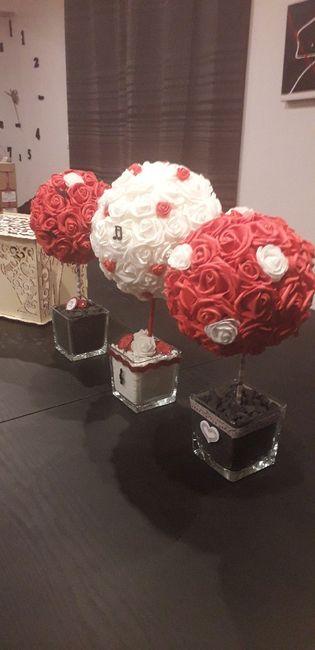 Boules roses artificielles 1