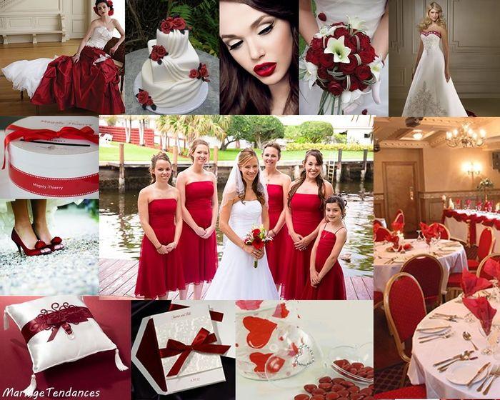 mariage en Rouge & Blanc