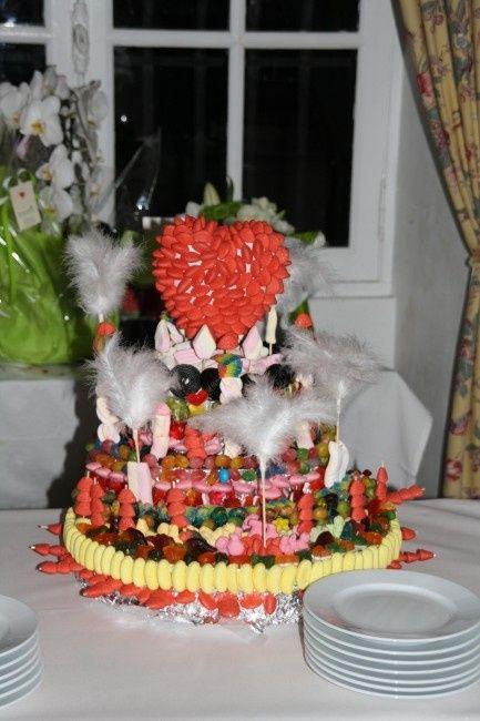 Notre gâteau de bonbons