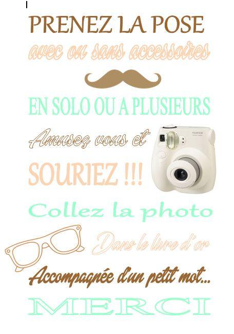 Préférence Affiche consigne photobooth - Décoration - Forum Mariages.net EY79