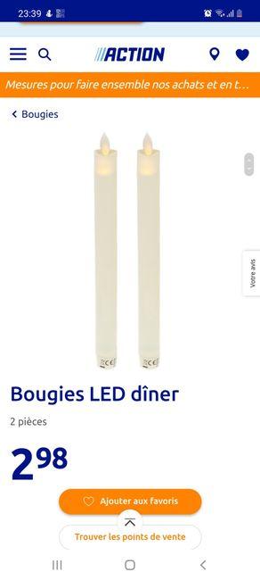 Bougies chandeliers en leds 2