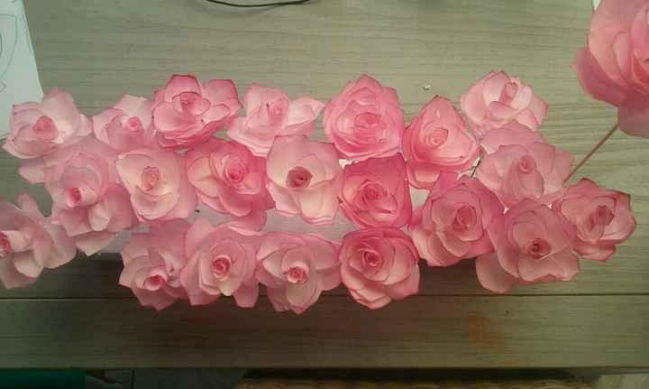 Mes roses en filtre a café - 1
