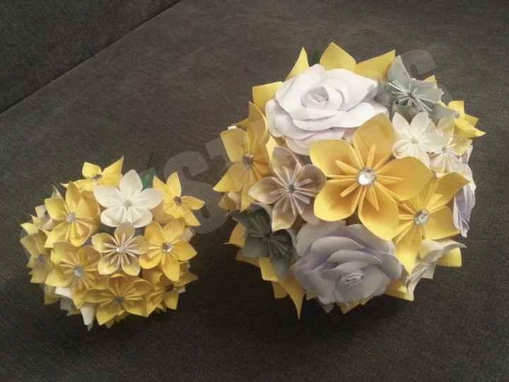mon bouquet et le bouquet à jetter aux célibataires