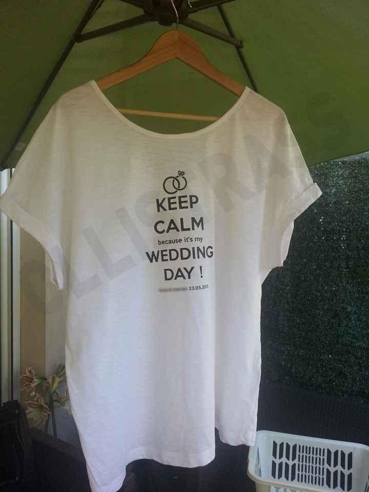 Tee Shirt Mariage !