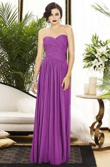 5 robe demoiselles d'honneur violet