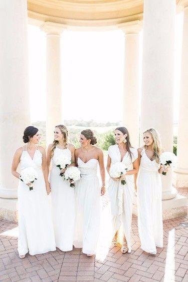 7 robe demoiselles d'honneur blanc