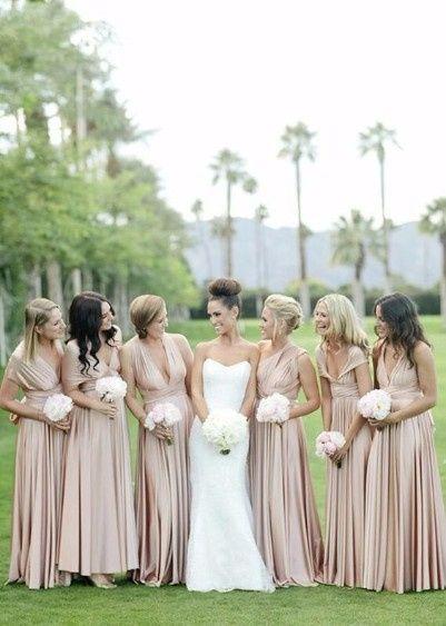 10 robe demoiselles d'honneur beige
