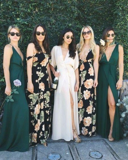 11 robe demoiselles d'honneur vert