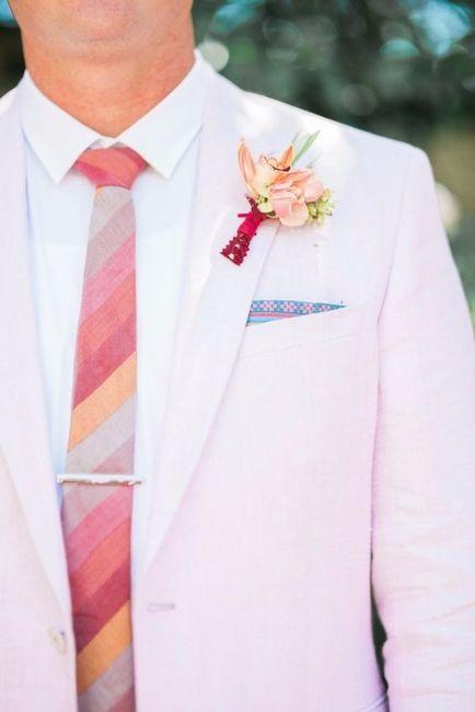 1 costume marié rose