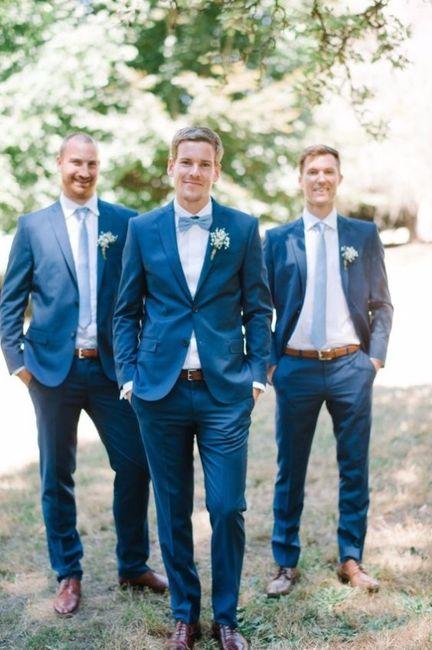 3 costume marié bleu