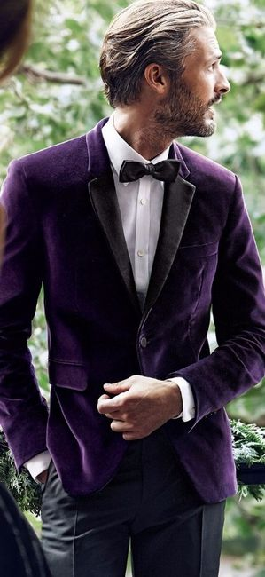 5 costume marié violet