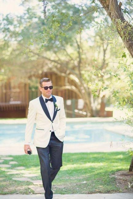 8 costume marié blanc et noir