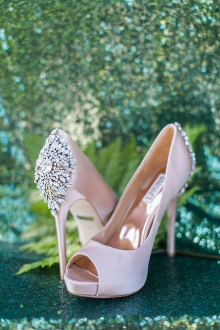 1 chaussures mariage Rose
