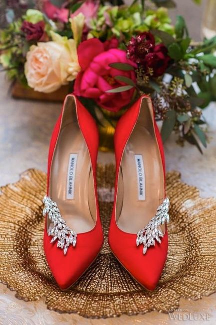 2 chaussures mariage Rouge