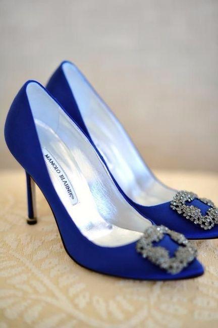 3 chaussures mariage Bleu