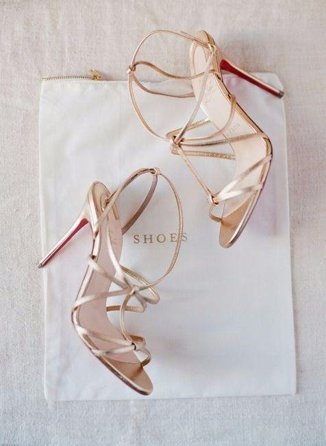 4 chaussures mariage Doré