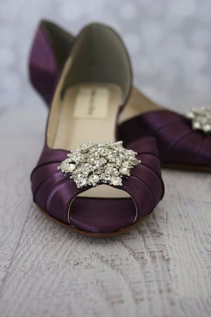 5 chaussures mariage Violet