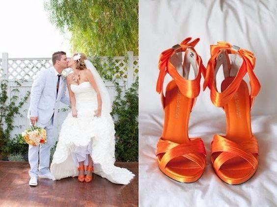 13 chaussures mariage Orange