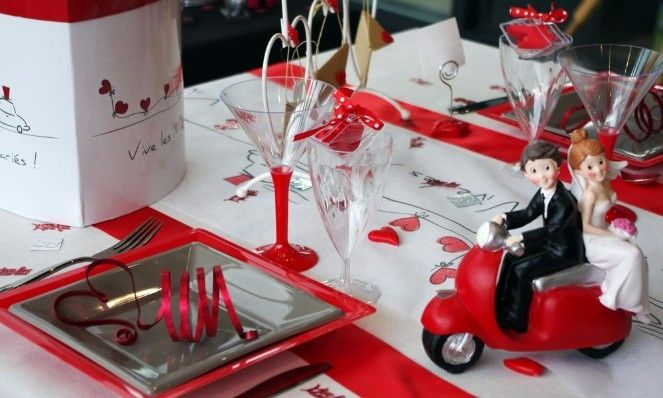 Mariage rouge, blanc et argent - Décoration - Forum Mariages.net
