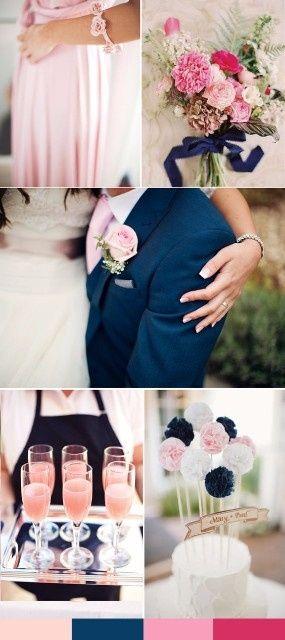 mariage bicolore : bleu marine et rose - page 2 - décoration - forum