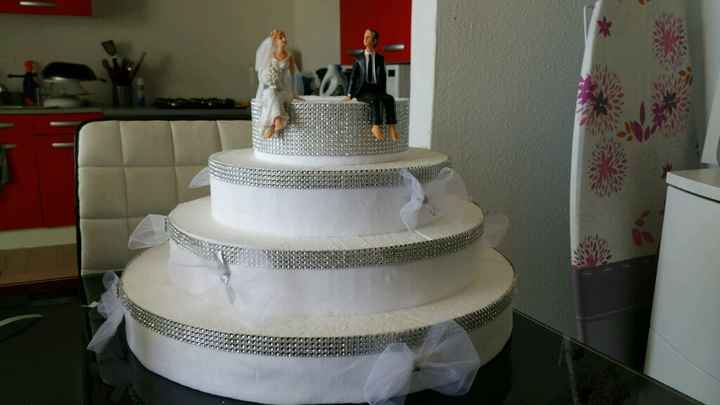 Support dragées faux wedding cake - 1