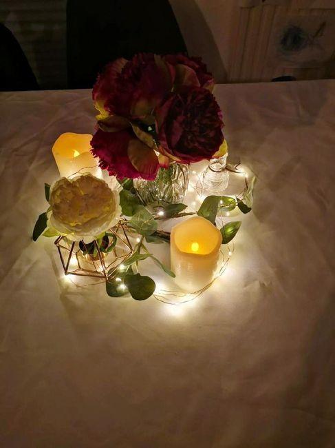 Guirlande de lumière centre de table 1