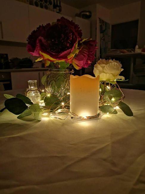 Guirlande de lumière centre de table 2